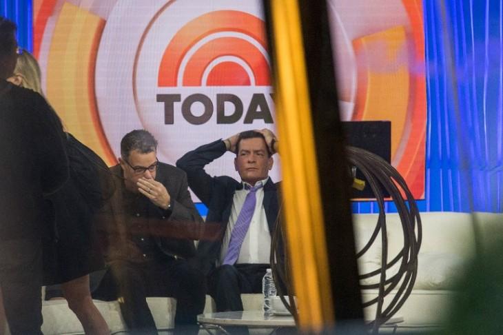 Actor Charlie Sheen en Today Show | AFP