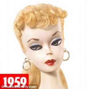 Barbie en 1959    Mattel
