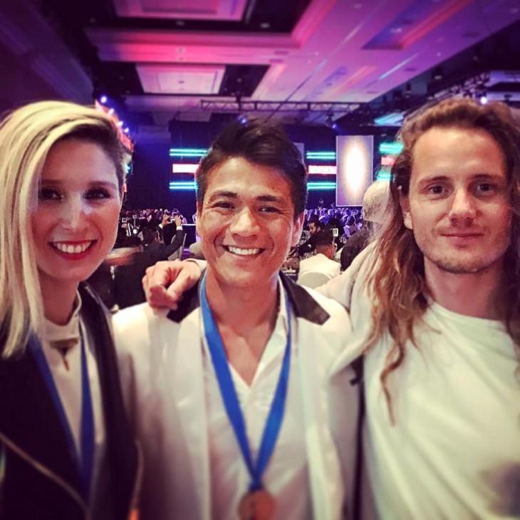 Francisca Valenzuela, Américo y Andrés Nusser de Astro en Las Vegas | Facebook Oficial Américo