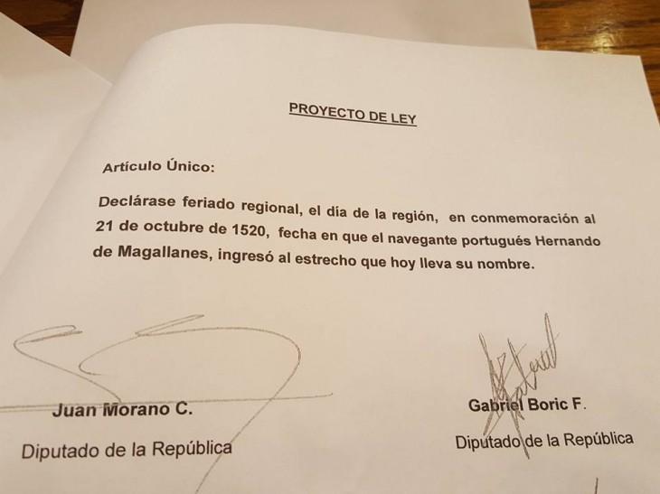 Proyecto de Ley | Gabriel Boric | Facebook