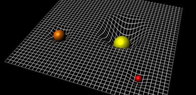 La representación de la curvatura del espacio-tiempo como una 'cama elástica' presenta limitaciones. / ESA–C.Carreau