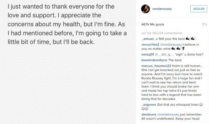 Ronda Rousey | Instagram