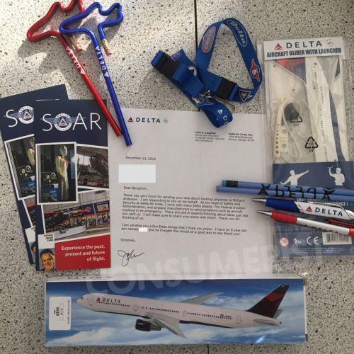 Los regalos que Delta envió a Ben | Consumerist.com