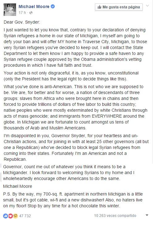 Michael Moore | Facebook