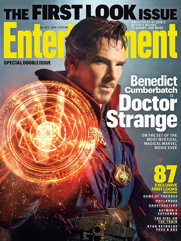 Benedict Cumberbatch como Dr. Strange en la portada de Entertainment Weekly
