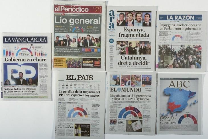 Portadas de diarios el lunes siguiente a las elecciones / Josep Lago | AFP