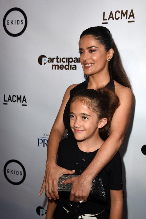 Salma Hayek y su hija Valentina   AFP