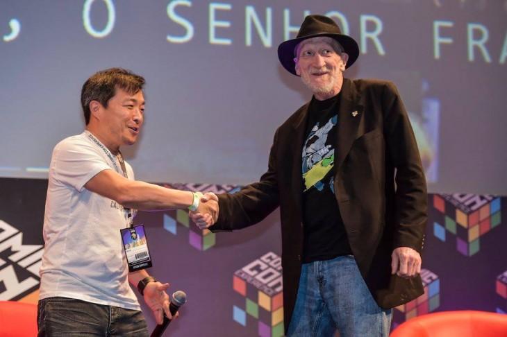 Jim Lee junto a Fran Miller en la Comic Con Experience 2015 | CCXP / Gustavo Scatena
