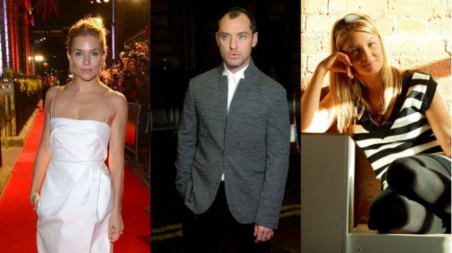 Jude Law , Sienna Miller y  Daisy Wright   El Mundo