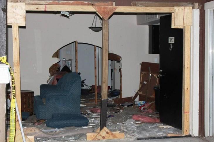 Así quedó la casa de Ben Rose tras el hecho | CBS