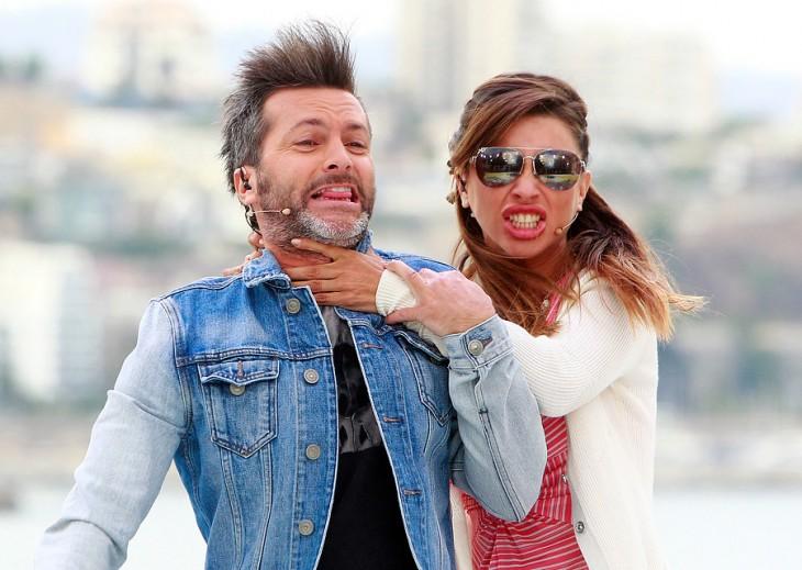 Cristian Sánchez y Francisca Merino en el programa de CHV, SQP | Archivo / Agencia UNO