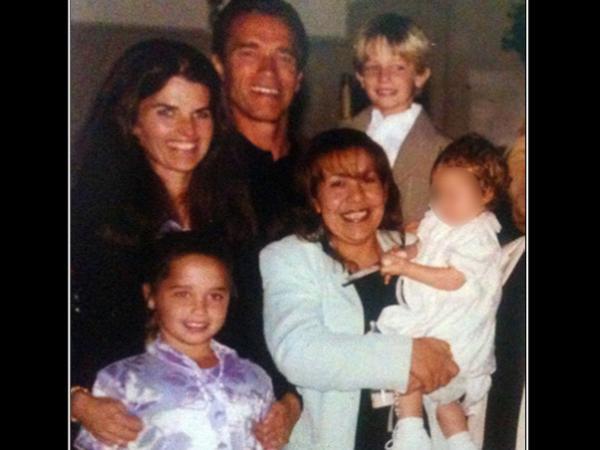 Schwarzenegger con Maria Shriver y Mildred Paticia Baena   TMZ