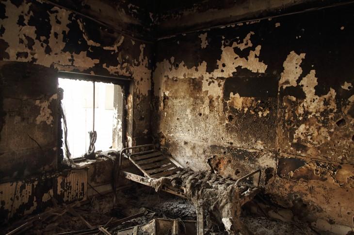 Restos de una de las habitaciones del Hospital   Andrew Quilty