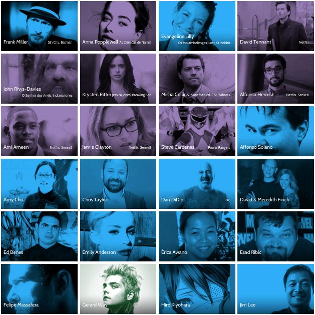 Parte de los invitados a la Comic Con Experience 2015