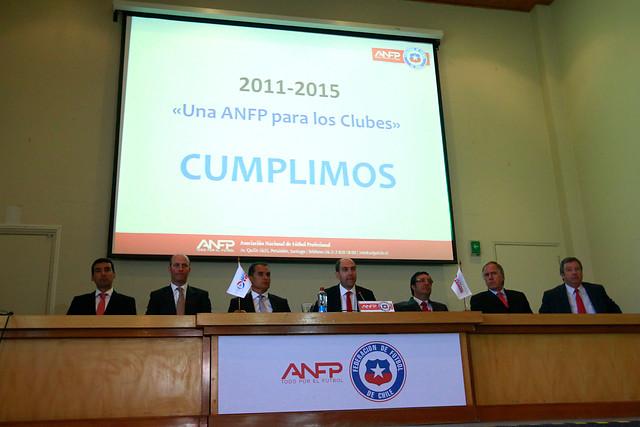 Directorio ANFP con Sergio Jadue | Archivo | AgenciaUno