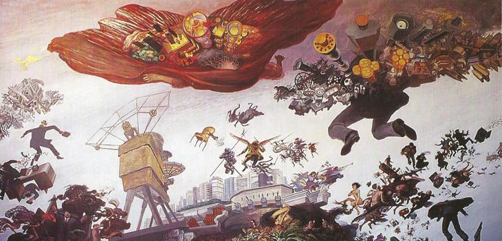 Detalle de El Gran Vendaval, libro Julio Escámez, 1996