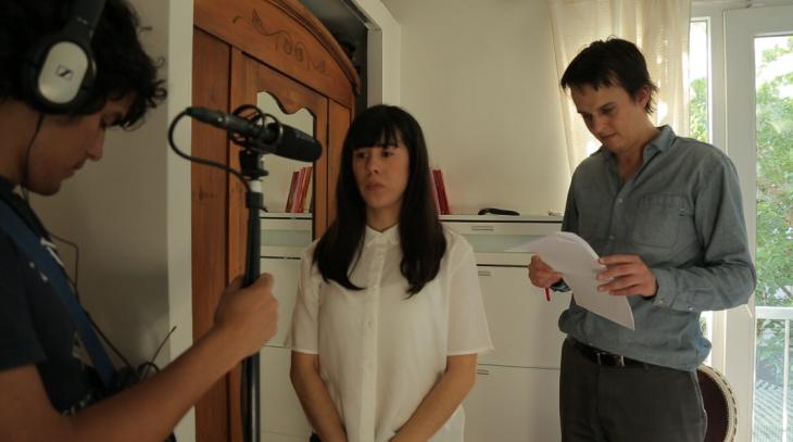 Loretto y Andrés antes de grabar | LAD Producciones / Cedida