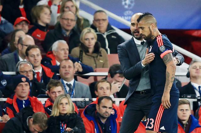 Guardiola y Vidal en Bayern | Archivo | AgenciaUno