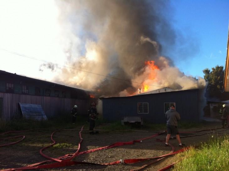 Incendio en Osorno | Tania Lavado (RBB)