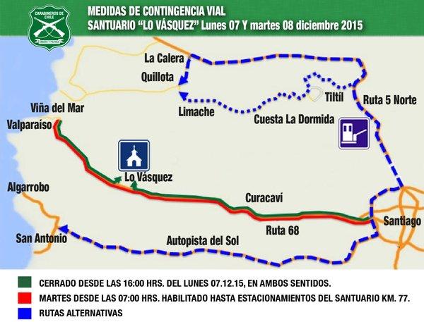 Medidas de contingencia a Lo Vásquez / @Carabdechile