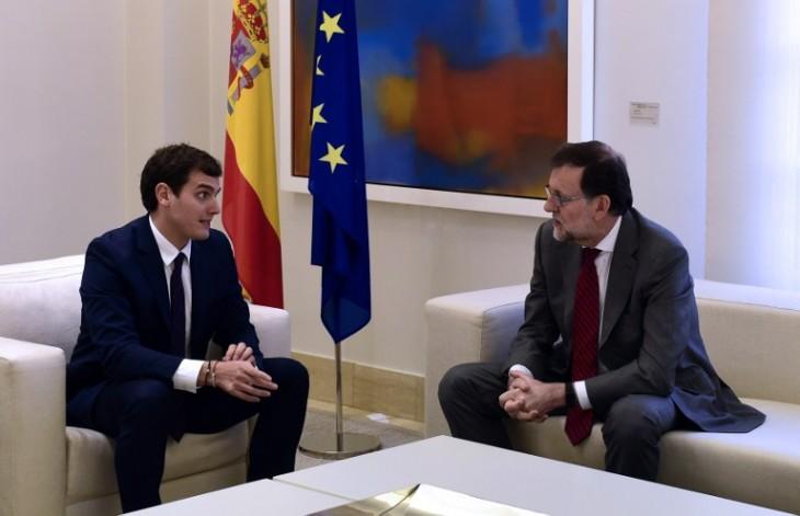 Albert Rivera junto a Mariano Rajoy / Pierre-Philippe Marcou | AFP