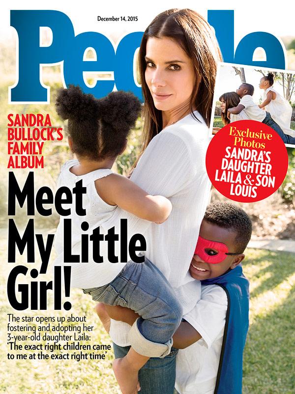Sandra Bullock y sus hijos en Revista People | People