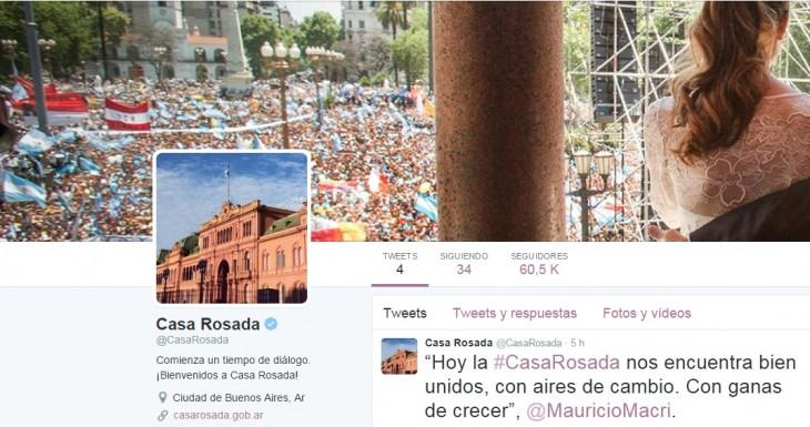@casarosada en Twitter