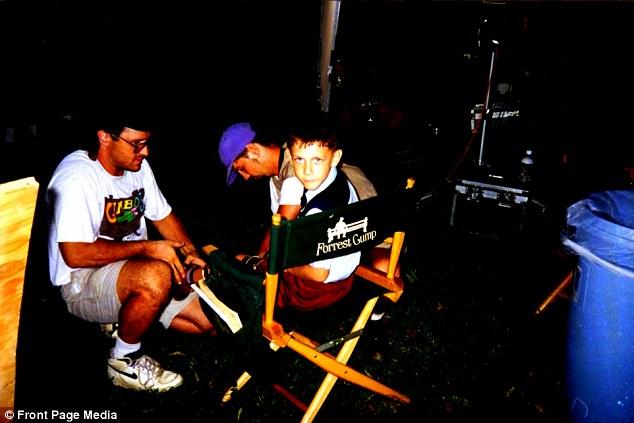 Michael en el set de Forrest Gump