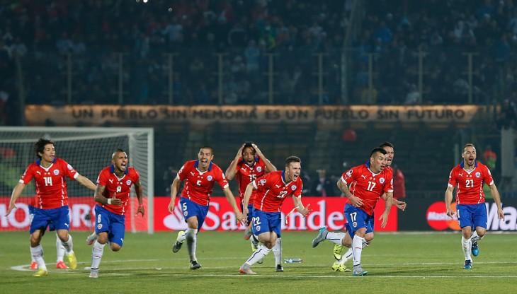 Chile celebra su primer título