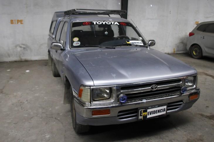 Uno de los vehículos recuperados | Prensa PDI
