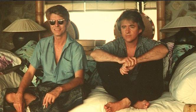 David Bowie junto a George Underwood | Paddy | Twitter