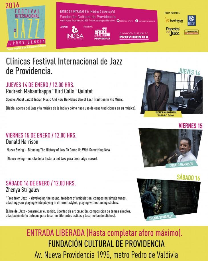 Clínicas de Jazz - Fundación Cultural de Providencia