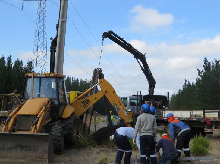 Trabajos de reposición de suministro   Transelec
