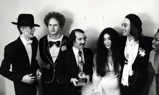 Imagen original de Yoko Ono y David Bowie