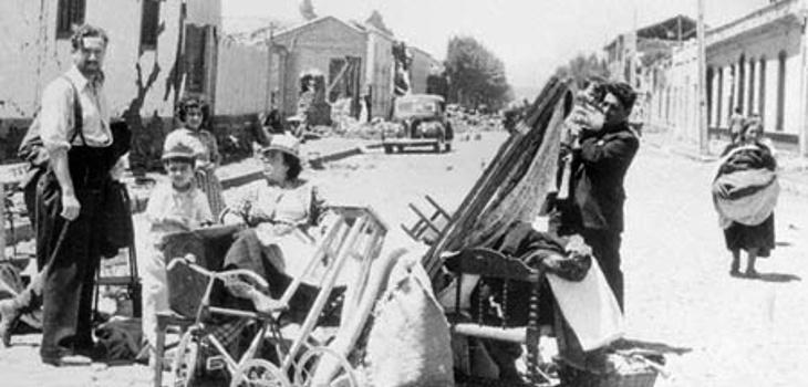 Sobrevivientes del terremoto de 1939 en Chillán