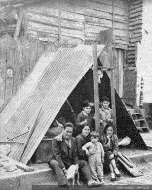Familia sin hogar en Chillán