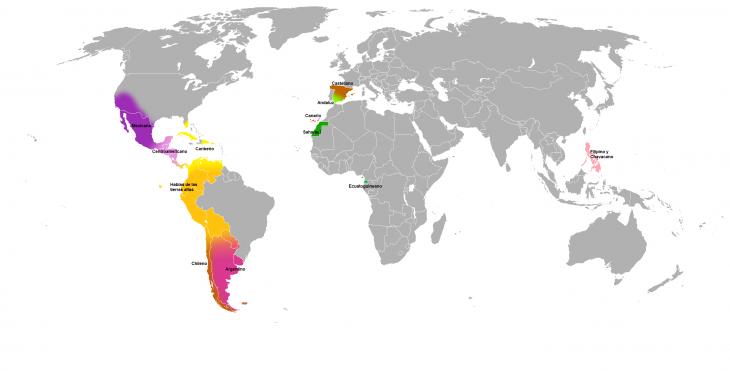 Partes del Mundo donde de habla español | Wikipedia