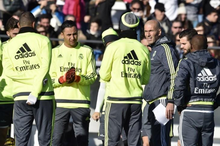 Zidane, primera práctica en Real Madrid