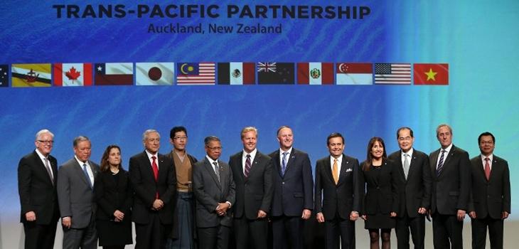 Representantes de los 12 países firmantes del TPP | Michael Bradley | AFP
