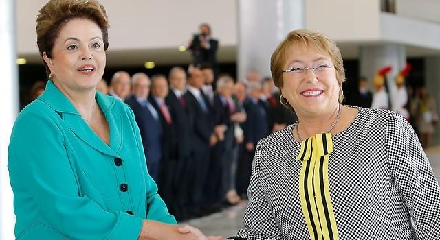 Foto de archivo | Encuentro de Bachelet y Rousseff en Brasil | Agencia Uno