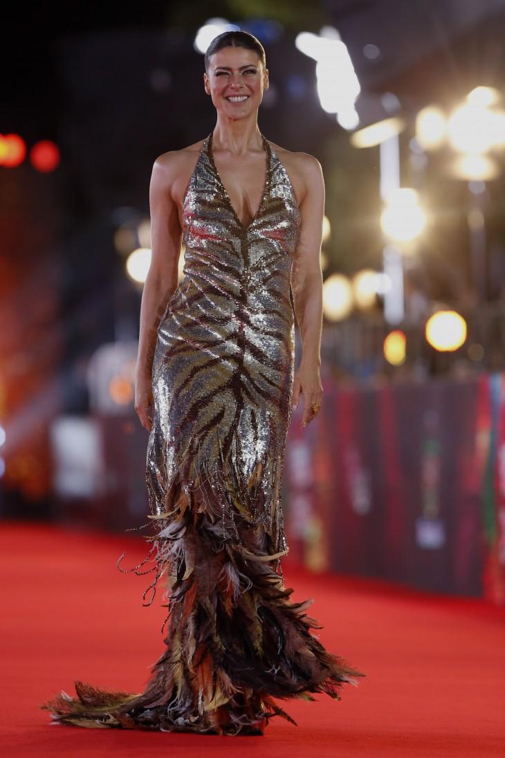 Tonka Tomicic en la alfombra roja de la gala de Viña | Agencia UNO
