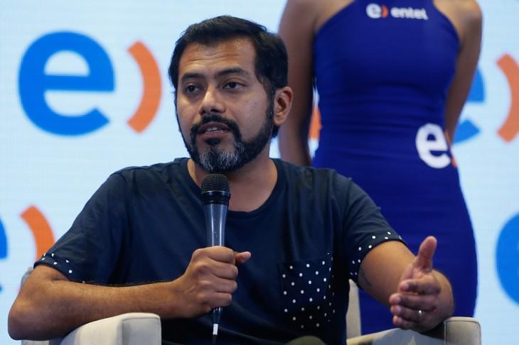 Pedro Ruminot en la conferencia de prensa | Francisco Longa / Agencia UNO