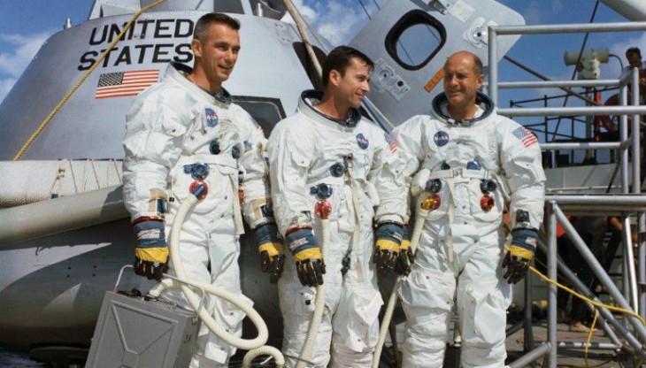 Gene Cernan, John Young y Thomas Stafford, tripulación del Apolo 10 | NASA