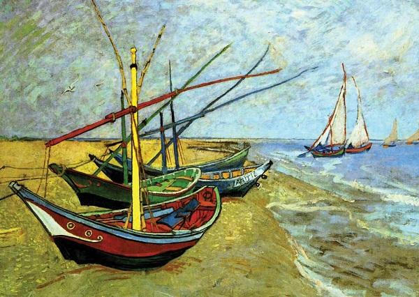 'Buques pesqueros en la playa de Santa María' | Vincent Van Gogh | Luca Agnani