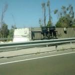 Suspenderán tránsito en la Ruta 5 Norte para retirar camión accidentado en La Ligua