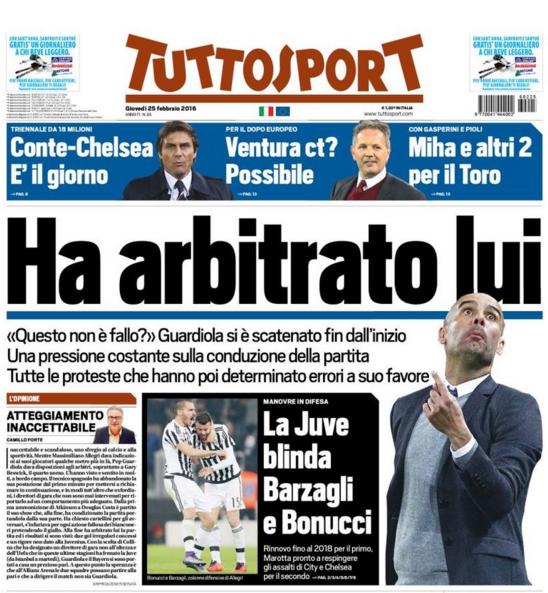 Portada diario deportivo Tuttosports