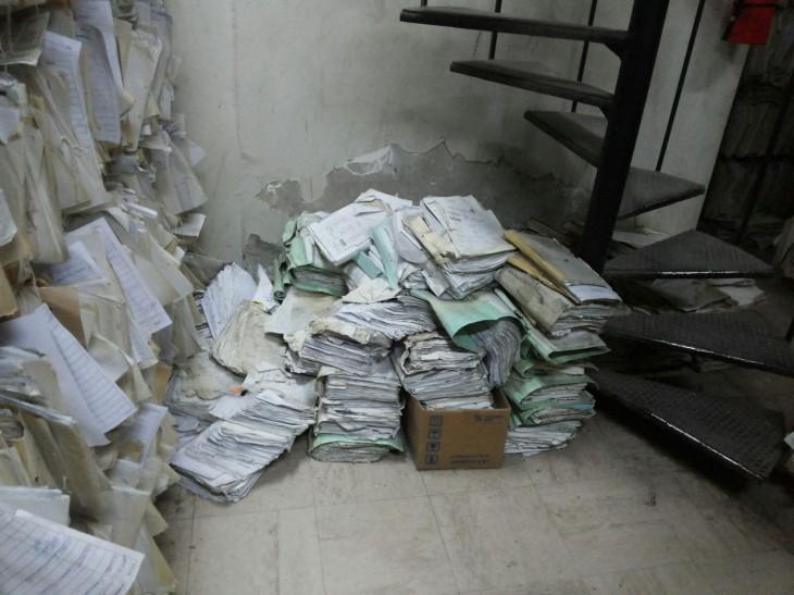 Fichas clínicas en Hospital Base de Valdivia