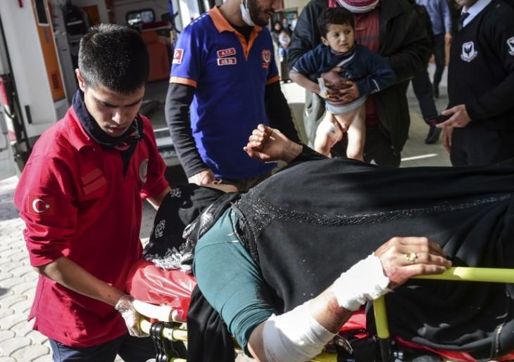 Heridos tras bombardeos | Bulent Kilic | AFP