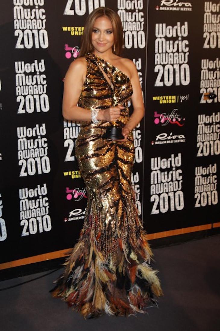 Jennifer López en los WMA 2010