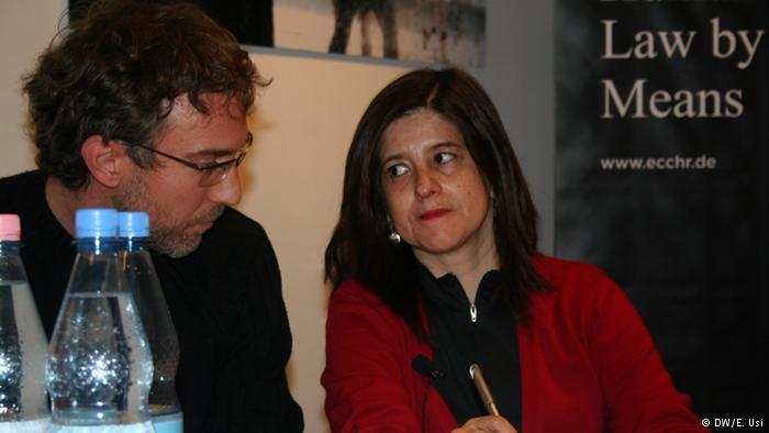 La abogada chilena Magdalena Garcés y el investigador Jan Stehle